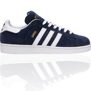 Adidas suede blue sneakers